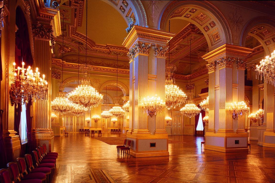 Palast der belgischen königsfamilie in Brüssel