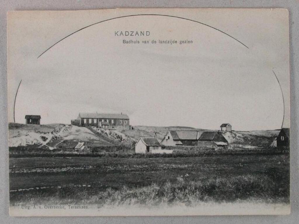 """Postkarte """"Badhuis"""" 1915 Cadzand-Bad"""