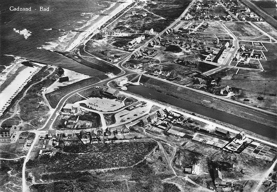Luftaufnahme von Cadzand-Bad um 1950