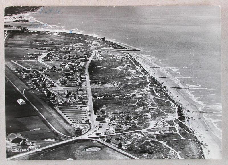 Luftaufnahme Cadzand-Bad um 1966