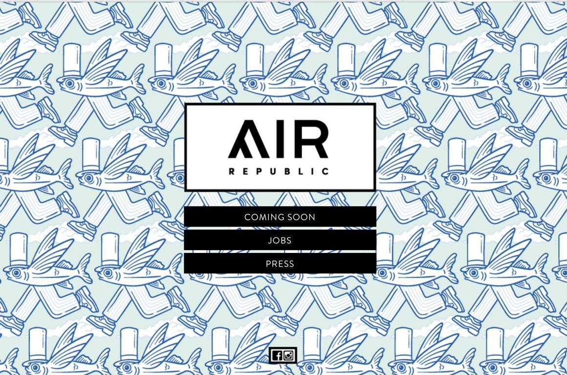 Website von Air Republic Cadzand-Bad