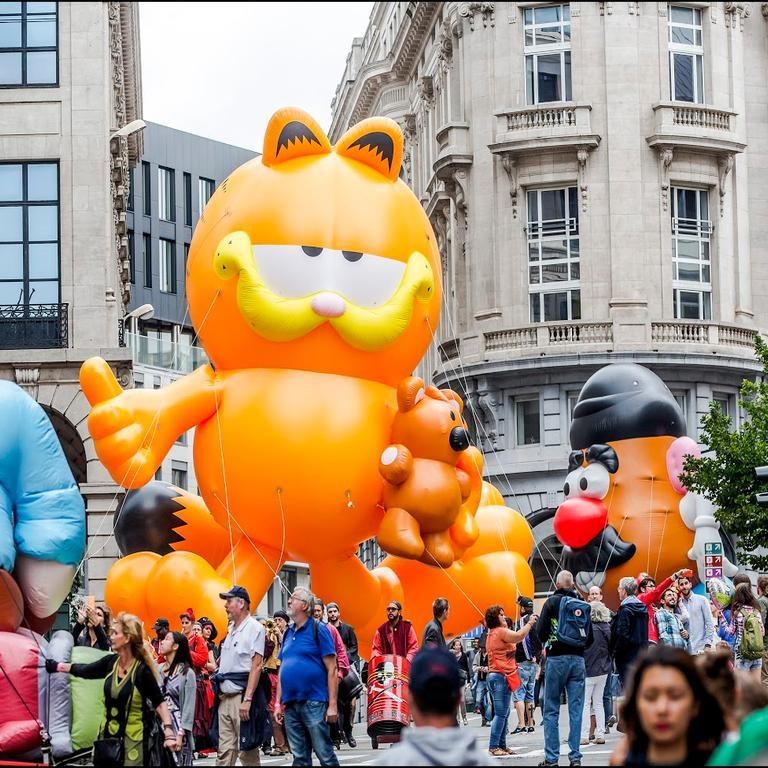 Comic Strip Festival Brüssel: Ballon-Parade
