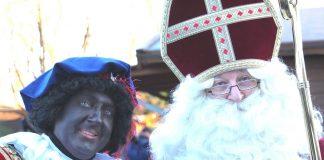 Ankunft von Sinterklaas und Zwarte Piet,