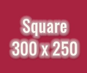 Fast quadratisch, praktisch gut: Der Square-Banner bietet im rechten Contentbereich hohe Aufmersamkeit