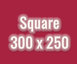 Square  300 px x 250 px