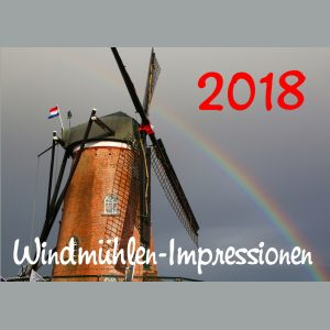 Windmühlen-Cadzand-Bad-Fotokalender 2018: