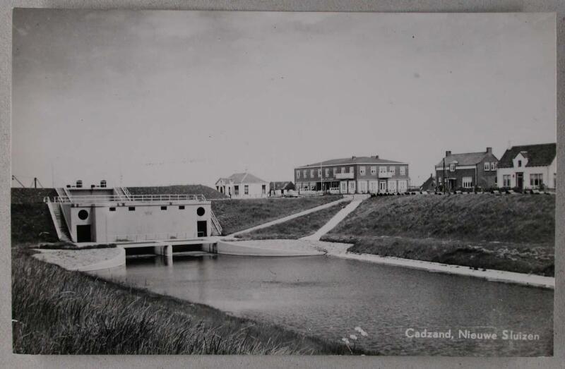 Schleuse von Cadzand-Bad um 1954