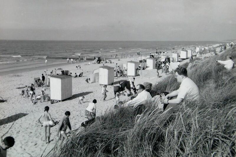 Strandsituation Cadzand-Bad um 1968