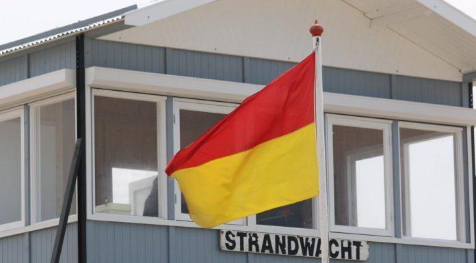 Strandwacht am Cadzand-Strand