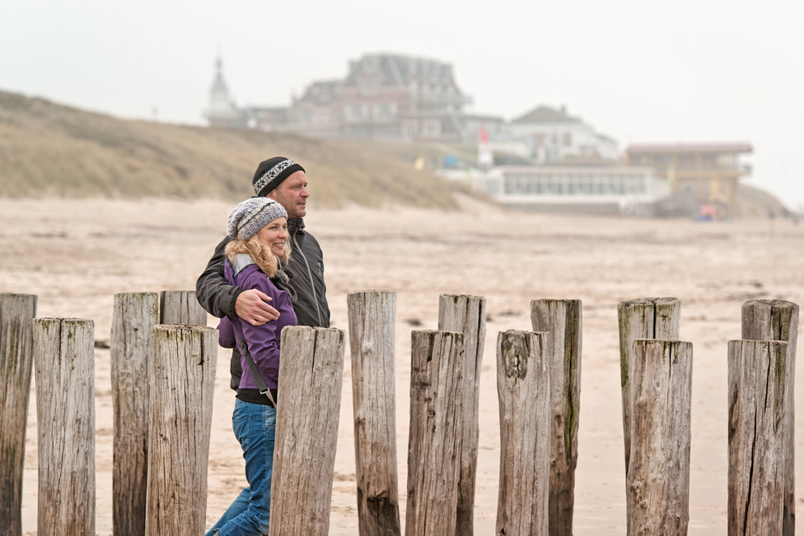 Winter an der niederländischen Nordsee