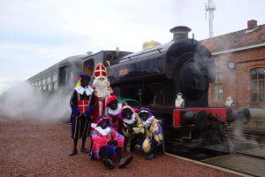 """Eisenbahnfahrt mit """"Sinterklaas"""" vom Dampfeisenbahnzentrum Maldegem"""