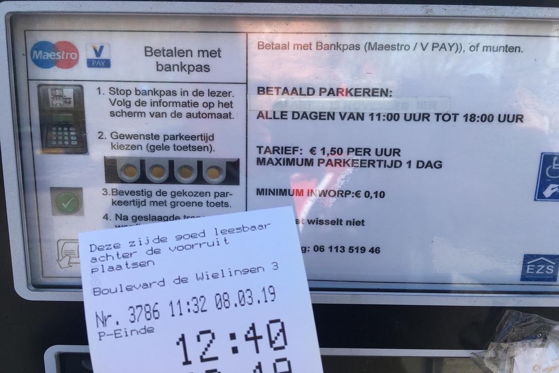Parkgebühren Cadzand-Bad