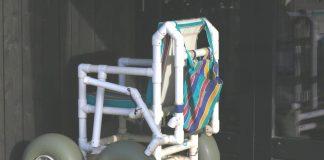 Strandrollstühle in Cadzand-Bad