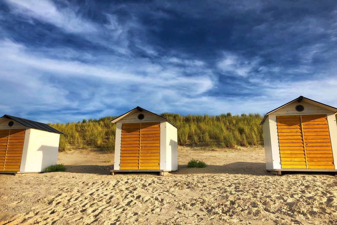 Cadzand-Bad: Strandkabinen am Badhuis-Strand