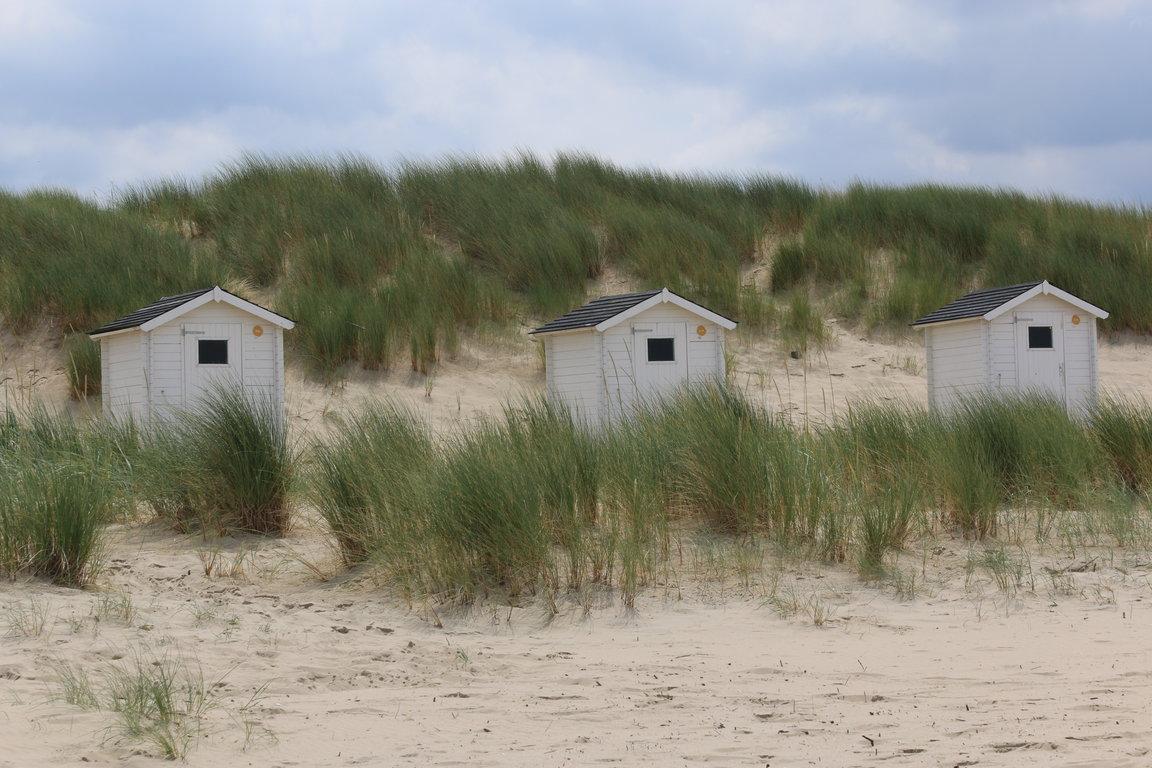 Cadzand-Bad: Dünen und Strandkabinen